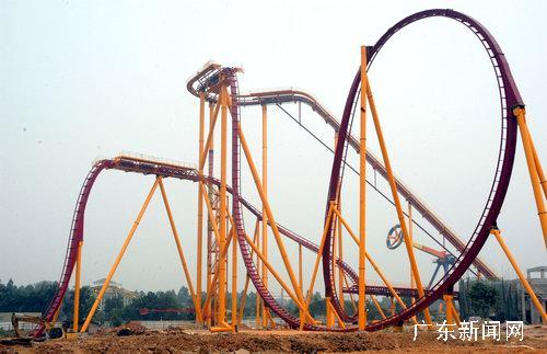 全球顶尖过山车之王垂直过山车落户广州长隆