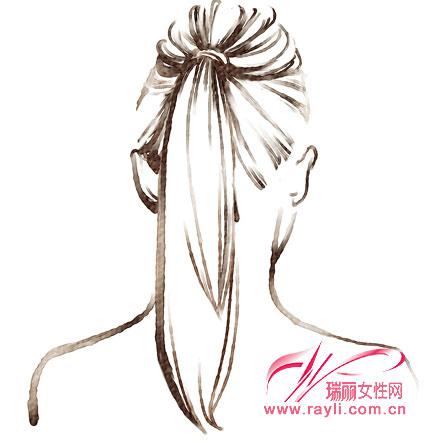 蓬松的头发卡通图片