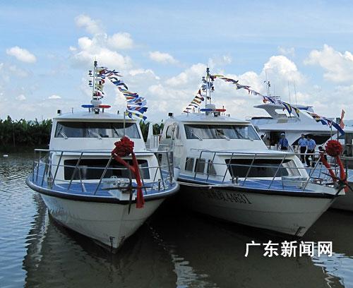 珠海平沙完成制造渔政执法船艇46艘(图)