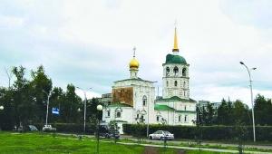 北京 西伯利亚/西伯利亚铁路沿途的伊尔库茨克市,有很多教堂,色调明朗漂亮。