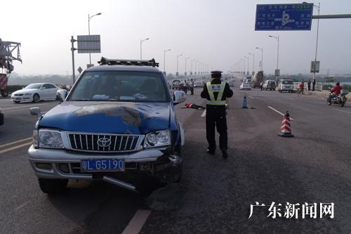 广东惠州发生连环交通事故一女子死亡