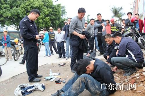 广东河源市公安局抓获两名盗窃犯罪嫌疑人(图