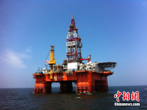"""""""海洋石油981""""主要用于南海深水油田的勘探钻井"""