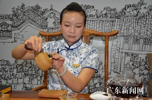 茶文化的会展立面图手绘