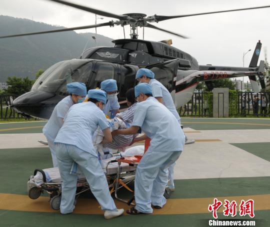 粤西最大医院开通航空急救航线