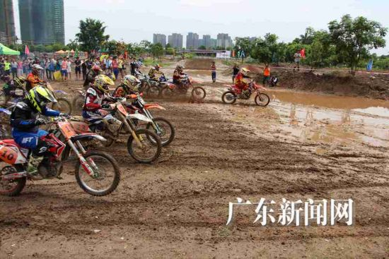 2015华南地区摩托车越野追逐赛首站在顺德举