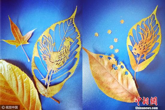 """最文艺的鸡 最近,一组用树叶创作的生肖鸡迎新年作品刷爆朋友圈,展示出精美的树叶上的剪纸艺术,大概这算得上是最文艺的""""鸡""""了吧。"""