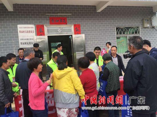 图为惠州市横沥镇在墨园村开展禁毒宣传进村活动现场。