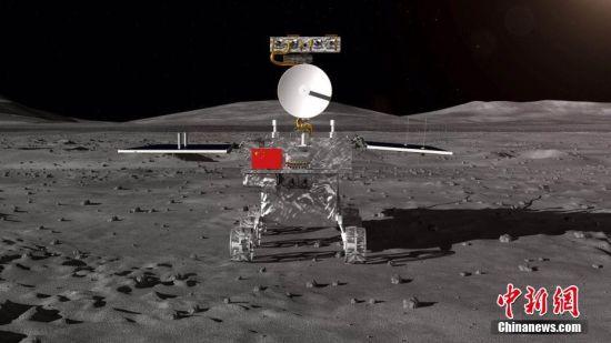 8月15日,中国国家国防科技工业局探月与航天工程中心在北京钓鱼台国宾馆举行仪式,正式启动嫦娥四号任务月球车全球征名活动,并对外公布嫦娥四号月球探测器――着陆器和月球车外观设计构型。按照计划,中国探月工程嫦娥四号任务将于2018年12月实施,将首次实现人类探测器在月球背面软着陆和巡视勘察。图为嫦娥四号月球车外观设计构型。 国防科工局探月与航天工程中心 供图