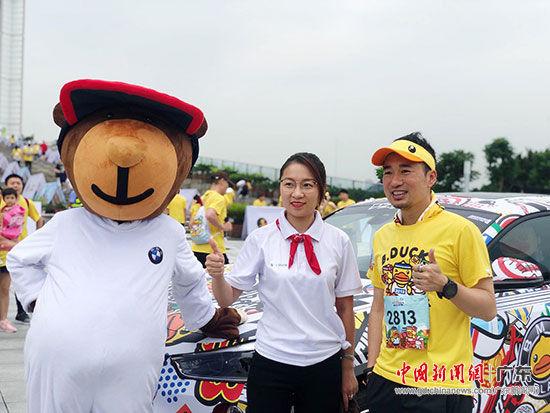 从左至右:碧桂园集团广清区域营销负责人潘雁玲,B.Duck创始人、香港设计师许夏林