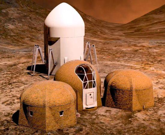 """6月20日消息,NASA视火星为人类下一个前哨站,并举办""""3D打印栖地挑战赛"""",共有60组作品参赛,冠军由纽约建筑师事务所AI SpaceFactory设计的多层圆柱形建筑夺下,抱回50万美元奖金。图片来源:NASA官网"""