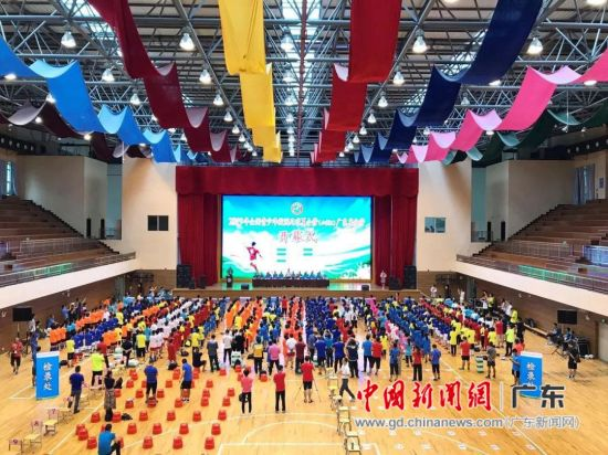 2019年全国校园足球夏令营(小学组)广东省分营开营仪式 主办方供图