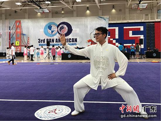 许翔在泛美传统武术锦标赛太极拳比赛