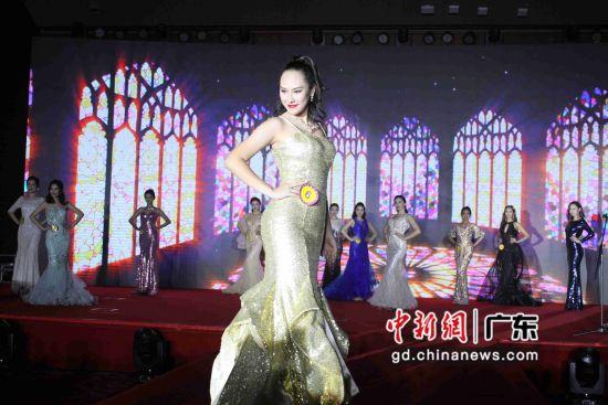 2019世界华裔小姐大赛全球总决赛暨颁奖典礼25日晚在穗举行。李军摄影