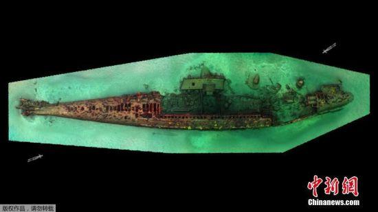当地时间9月5日,墨西哥国家人类学和历史研究所(INAH)发布的照片展示了一艘在南下加利福尼亚州圣玛格丽塔岛附近海域沉没的第一次世界大战时期的潜艇。