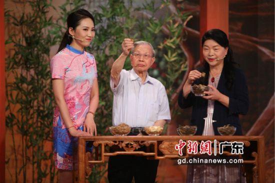 广东卫视《健康有道》节目录制现场。通讯员 摄