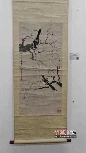 徐悲鸿的《喜上柳梢》。摄影:郑小红