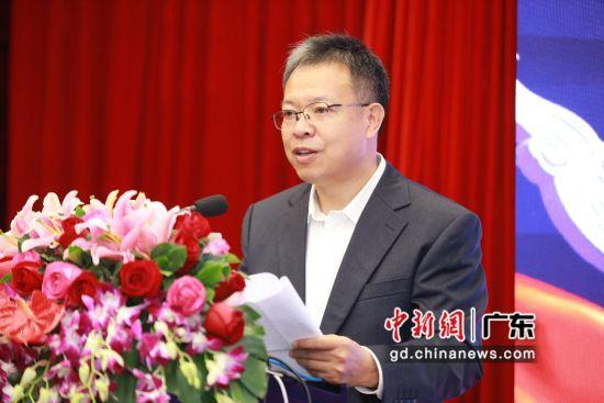 公安部科技信息化局副局长陈敬华致辞。(主办方供图)