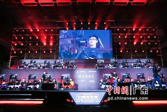世界一级方程式(F1)电竞中国冠军赛华南区分站赛现场。通讯员 供图