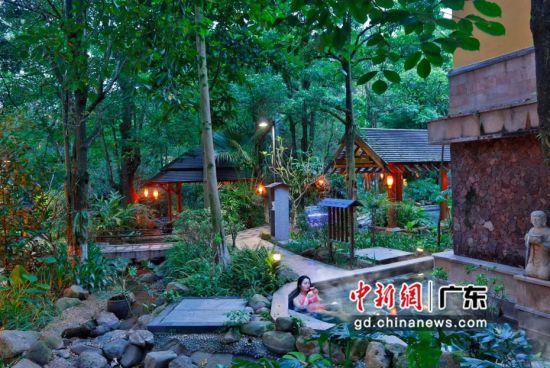 位于惠州龙门的地派温泉度假村。通讯员 供图