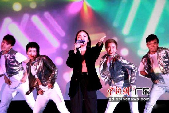 广东文体广播原创新歌《为我而来》全网首发启动仪式现场。(主办方供图)