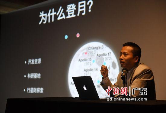 宇航科普作家、三体引力波品牌号创办人程亦之。(姬东摄影)