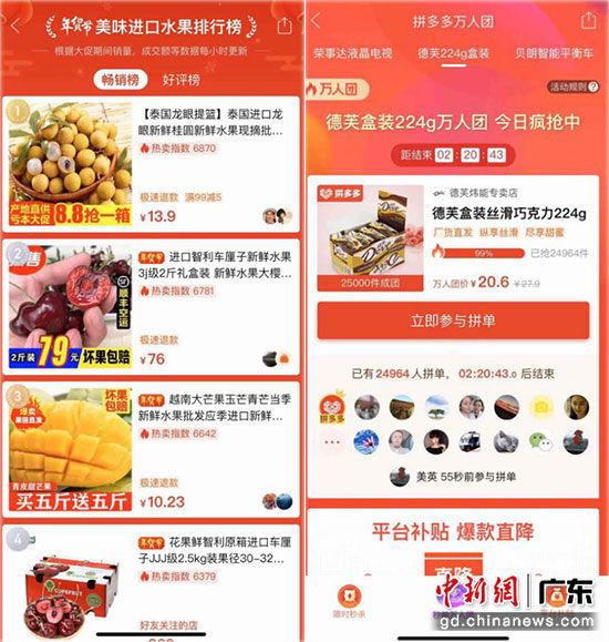 拼多多年货节爆卖超2亿单 广东购买力雄冠全国