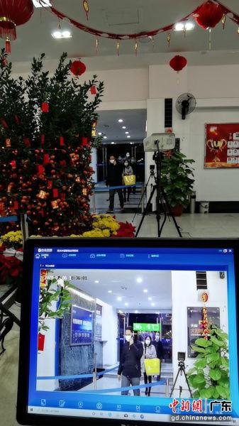 """广东电信5G热成像筛查系统""""秒测""""体温"""