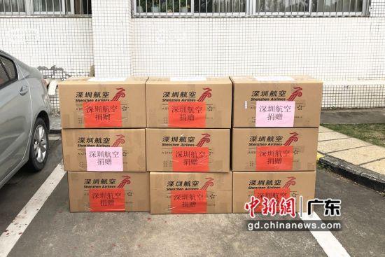 深圳航空捐赠的防疫物资。摄影:钟欣