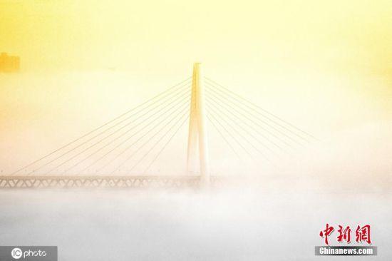 图为图为重庆东水门长江大桥。周智勇 摄