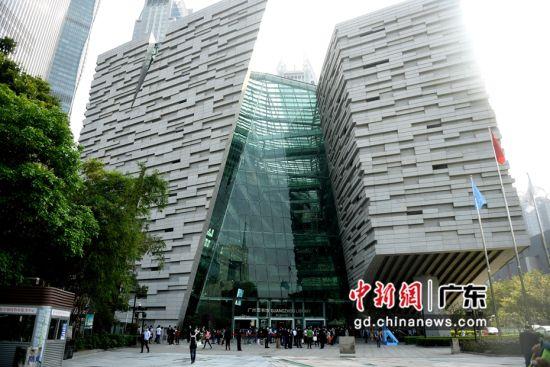 广州图书馆外观。(姬东摄影)
