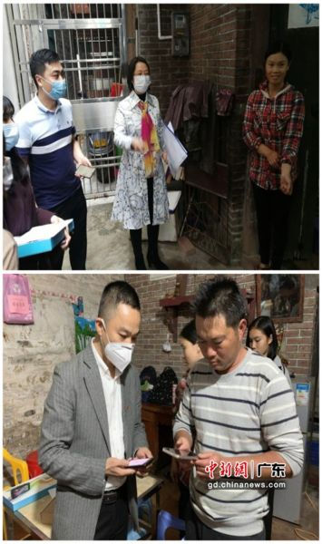 为了保障学生线上教育,中国联通东莞分公司为12名贫困学子提供一批平板电脑和无线wifi。图为学生家长学习使用线上教学方法 中新社发 东莞联通 供图