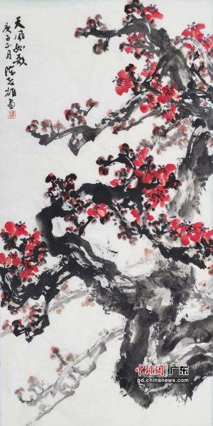 红棉画家陈志雄画作《天风如歌》。作者供图