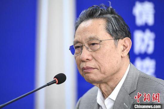 资料图:钟南山。中新社记者 陈骥�F 摄