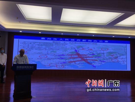 """图为广东""""惠州新闻发布厅""""的首场新闻发布会现场 宋秀杰 摄"""