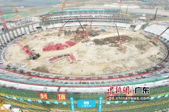 广东汕头2021年亚青会主场馆全面封顶
