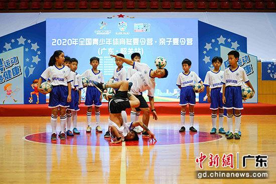 启动仪式上的篮球、跑酷、足球等活动展演 主办方供图