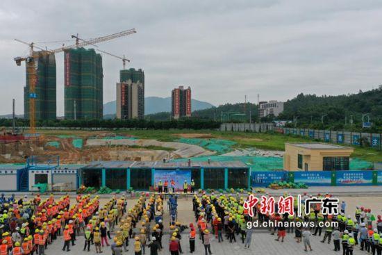 """广金清远校区建设项目启动""""安全生产月"""" 主方法供图"""