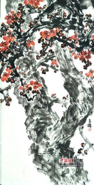 陈志雄国画《挺起岭南天》。 受访者供图