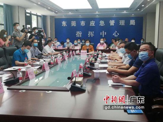 """东莞市2020年""""安全生产月""""主题宣传活动16日正式启动,该市打造的""""安全云平台""""也于当天正式上线。图为活动现场。李获摄"""