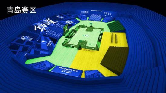青岛赛区效果图。图片来源:CBA联赛官博