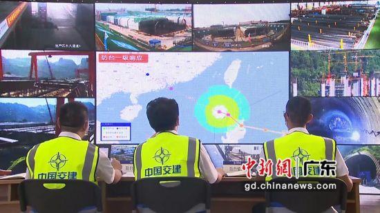 中交四航局二公司防台应急值班。 于瑞莹 摄