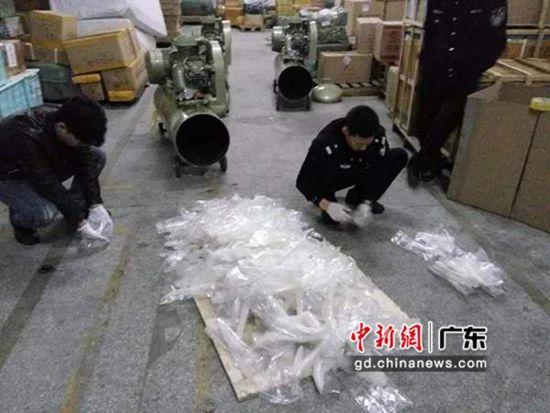 毒品曾被藏在抛光机、压缩机、高跟鞋等物件内。 云宣 供图