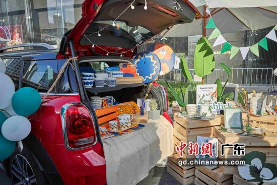 北欧时刻仲夏趣日系列活动广州举行。图片为车尾箱市集。作者:主办方供图