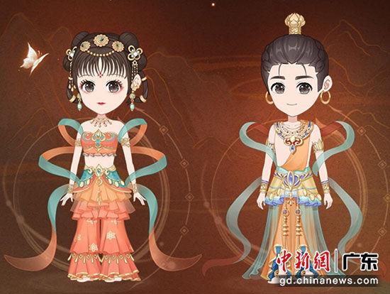 敦煌研究院联合腾讯QQ新推虚拟形象装扮