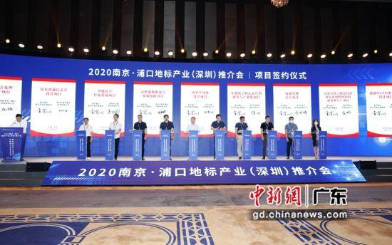 图为2020年南京・浦口地标产业推介会现场。 刘晓曦 摄