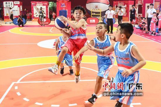 """8月23日,""""小小CBA""""球员在比赛中。陈骥�F 摄"""