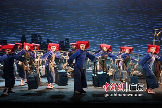 现代粤剧《红头巾》剧照。蔡伟英 摄