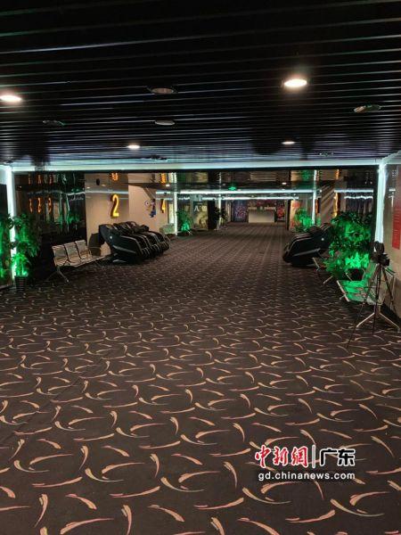 珠海的中影国际影城(华发新天地店)日前改造升级为深宵影城,图为放映厅一角。中影供图