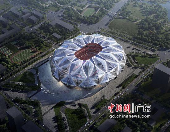 广州恒大足球场项目高清效果图 。作者:中建四局供图